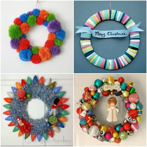Handmade Au - four diy colourful wreaths handmade