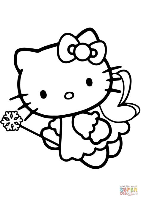 coloring page hello kitty ballerina happy christmas hello kitty coloring pages tree coloring