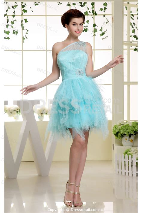Beading Sweet 16 Blue Short Mini Satin Special Occasion Dress 007 » Home Design 2017