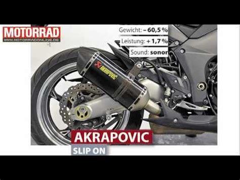 Motorrad Auspuff Slip On by Akrapovic Slip On Kawasaki Z1000 Auspuff Youtube