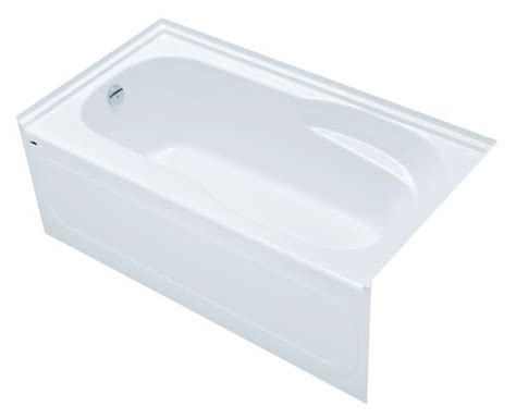 hytec bathtub hytec bath and shower products ac3260l gemstar 60 quot x 32 quot bath with integral apron