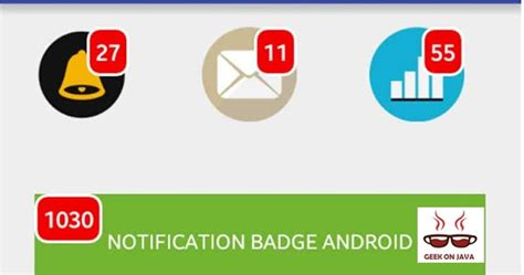android notification badges make badge item count in android tutorial