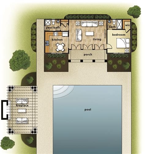 House Plans With A Pool by House Review Pool Houses Cabanas Professional Builder