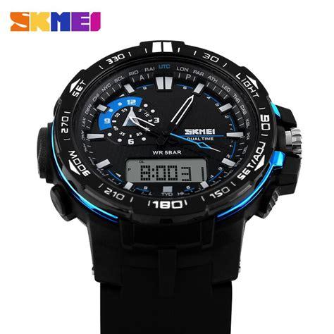 Jam Tangan Pria Skmei Water Resistant 50m Classic Stainless Series skmei jam tangan sport pria ad1081 black blue jakartanotebook