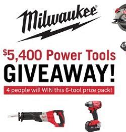 Milwaukee Tool Sweepstakes - milwaukee power tools giveaway