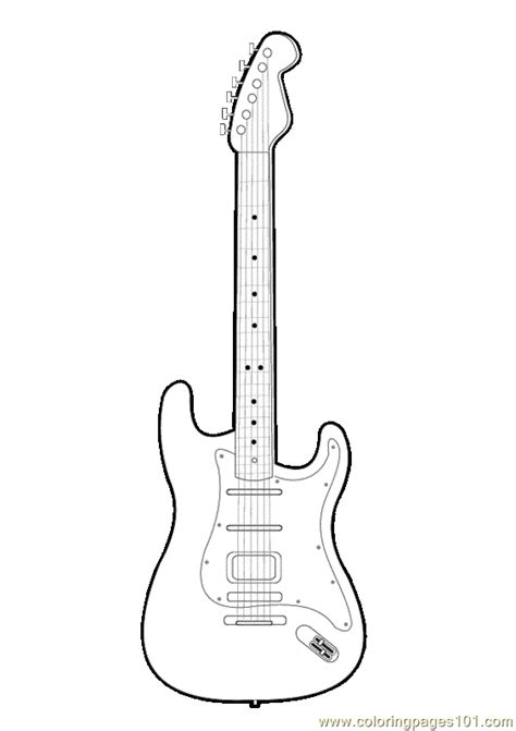Guitar Cut Out Pattern Free Printable Coloring Page Guitar Templates Free