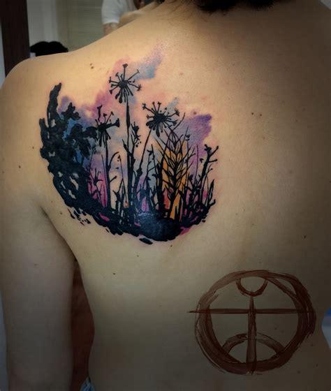 garden city tattoo dandelion garden by koraykaragozler on deviantart