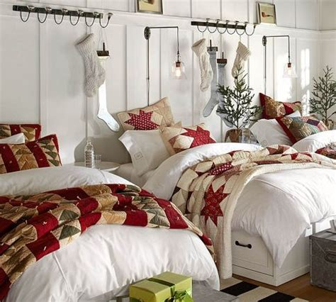 christmas bedroom decorations ideas from pottery barn my top 8 christmas bedrooms perfect headboards blog