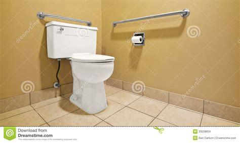 Bathroom Handicap Handles Toilet With Handicap Wall Handles Stock Images Image