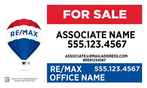 design center remax re max 174 signs all templates all style guide compliant