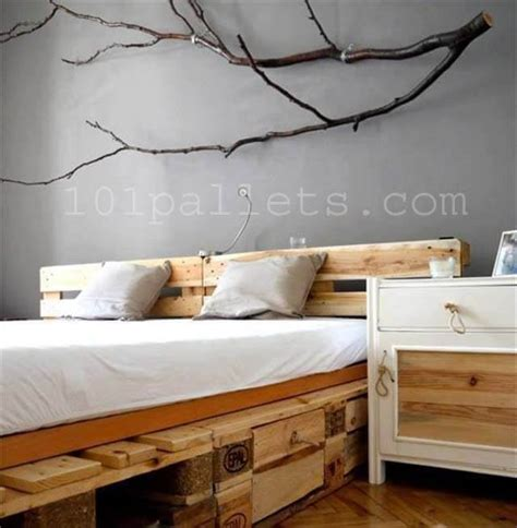 pallette bed diy unique style pallets bed 101 pallets
