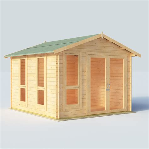 10x10 Wooden Shed by Billyoh 10x10 Modern Dbl Door 19mm Log Cabin