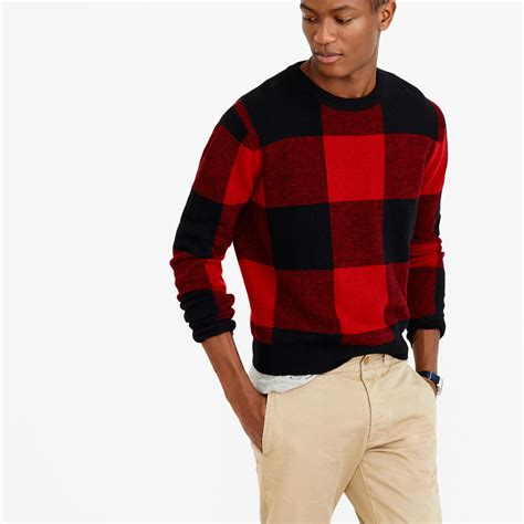 Who Wore It Better Wang Buffalo Plaid Cardigan by Lyst J Crew Lambswool Buffalo Plaid Sweater In For