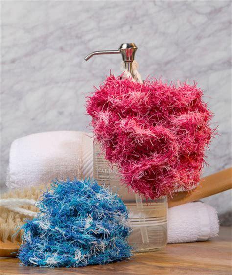 swirl scrubby free crochet pattern in red heart yarns scrubby bath poufs red heart