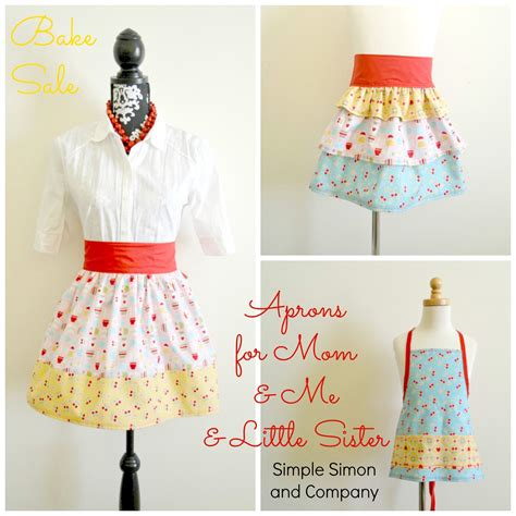 apron tutorial video aprons for mom me little sister and a toddler apron
