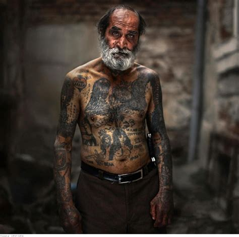 aged tattoos with large tattoos