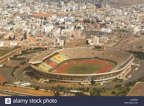 dakar senegal aerial view of the stade leopold sedar senghor stadium in