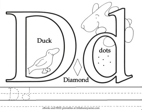 Coloring Pages Little Bunny Series Coloring Letter Dd