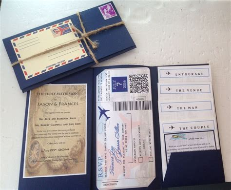 Themed Wedding Invitations by Diy Travel Themed Wedding Invites Vintage Travel Theme