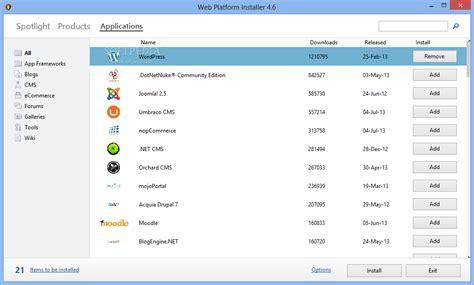 microsoft web software microsoft web platform installer