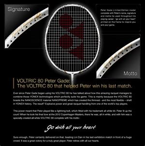 Raket Yonex Voltric 80 Gade Voltric 80 Gade Unveiled