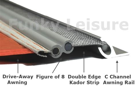t4 awning vw t4 transporter c channel awning rail