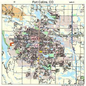 fort collins colorado map 0827425