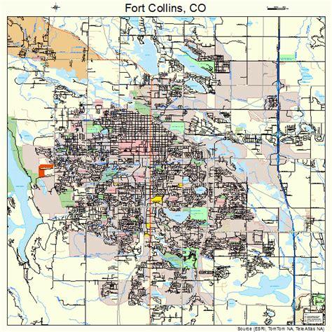 map of fort collins colorado fort collins colorado map 0827425