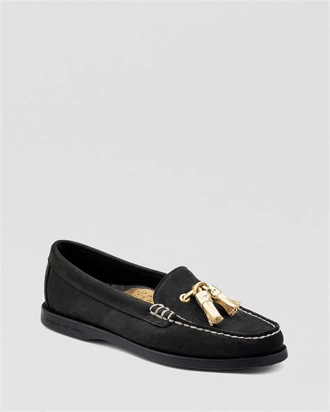 sperry top sider tassel loafers sperry top sider boat shoes tassel loafer in black lyst
