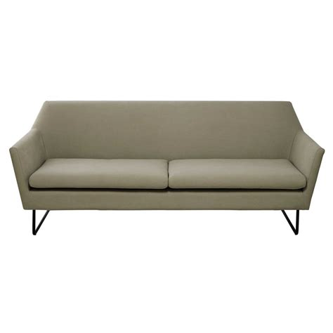 cotton sofas 3 4 seater cotton sofa in putty colour neptune maisons