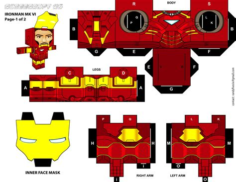 Ironman Papercraft - ironman cubeecraft xl pg 1 by randyfivesix on deviantart