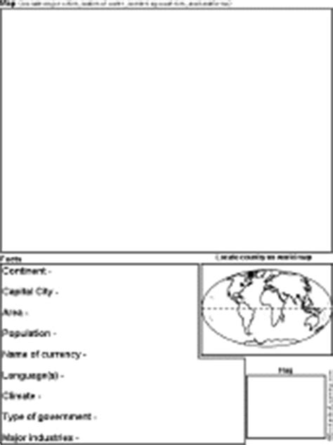 continent report template geography enchantedlearning