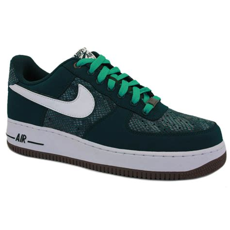 Nike Air One Shoes For nike air 1 mens 488298 306 laced leather textile trainers green ebay