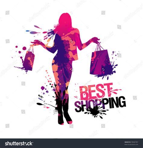 best shopping shopping silhouettebest shopping vector illustration