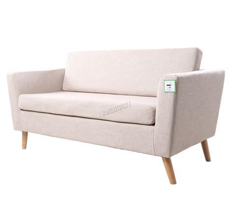 office settee foxhunter linen fabric 2 seat sofa settee dining room