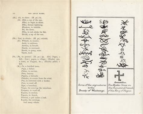 aryan and māori language and symbols ideas of māori