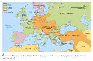 Wwi Map Of Europe by Causes Of World War 1 World War One