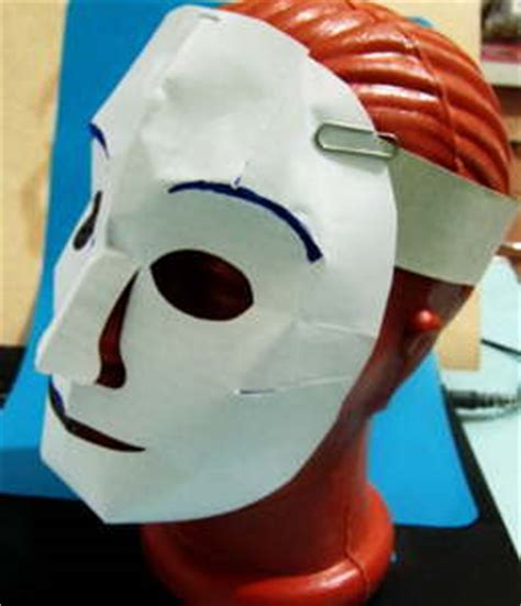 How To Make A Paper Mask - easy paper skull mask