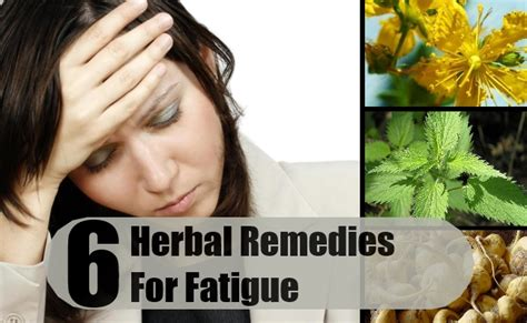 herbal remedies for fatigue treatments cure for