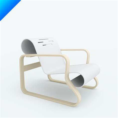 paimio armchair alvar 3d models
