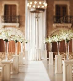 pretty photos of indoor wedding ceremony decorations