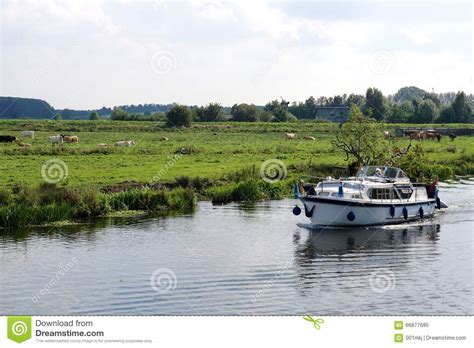 small boat licence uk boating in the cambridgeshire fens editorial image image