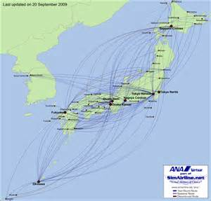 Ana Route Map by Ana Route Map World Map 07