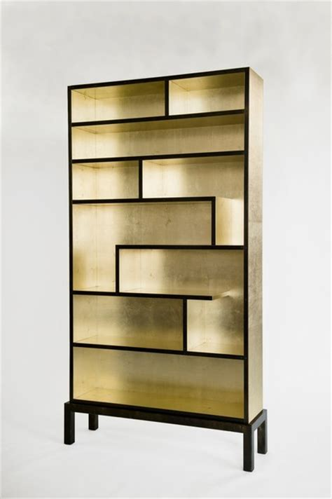 bookshelf gold leaf modern bookcases baltimore