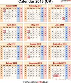 Calendar 2018 Printable With Week Numbers 2018 Calendar Uk With Week Numbers Calendar Printable Free
