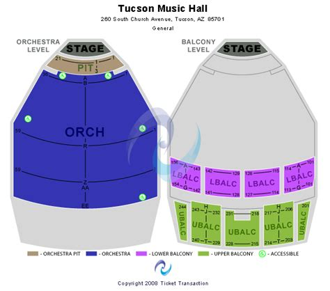 Tucson Convention Center Box Office by 2017 2018 Tickets Tucson Seating Chart