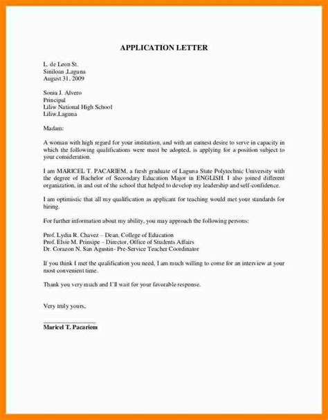 application letter for a college lecturer sle application letter for college teaching position