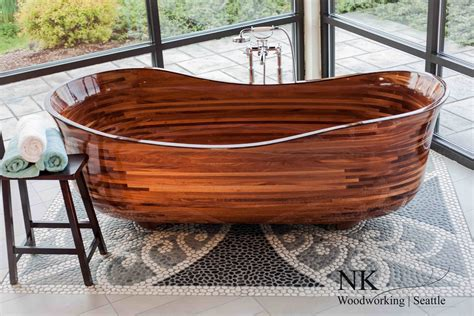 what are bathtubs made of bathtubs made from wood veneer and lots of it