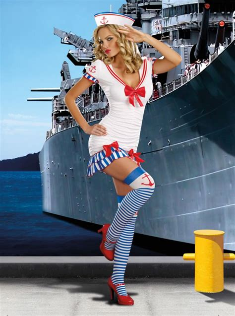 sailor pin  fancy dress costume womens sexy sailor