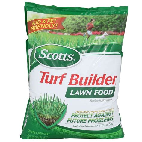 scotts 12 6 lb 5 000 sq ft turf builder lawn food 22305